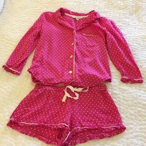 Victoria's Secret Pink/White Polka Dot PJ Set